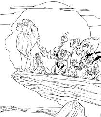 15 Lion King Colouring Pages