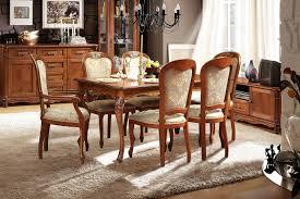 alesie esstischgruppe im barock stil ausziehbarer esstisch 6 stühle eiche bronze