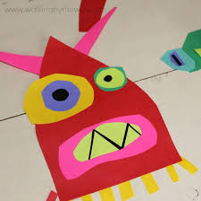 Cut Paper Monster Art Project Inspired By Ed Emberleys Books Walking The Way
