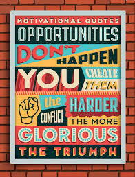 Gorgeous Retro Typographic Posters Of Motivational Quotes