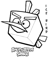 Angry Birds Space Character Ice Bird Coloring Pages