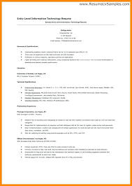 Information Technology Resume Examples 2017 Resumes