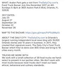 Food Truck Bazaar On Twitter: