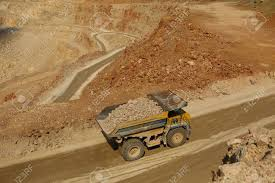 100 Huge Trucks Work In A Quarry Mining Stock Photo Picture And Royalty
