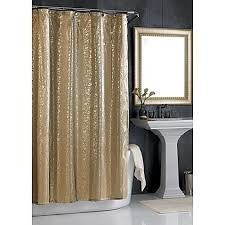 Bed Bath And Beyond Sheer Window Curtains by Sheer Bliss Shower Curtain In Gold Bed Bath U0026 Beyond