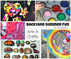 Summer Backyard Fun For Kids Outdoor Arts Crafts