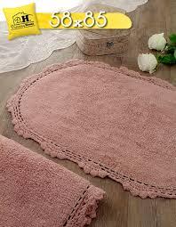 details zu badteppich mit häkelspitze badematte häkelbordüre badezimmerteppiche badvo