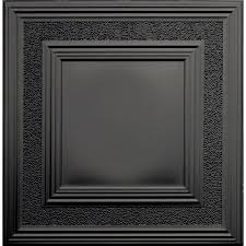 Fasade Ceiling Tiles Home Depot by Global Specialty Products Dimensions 2 Ft X 2 Ft Matte Black Tin