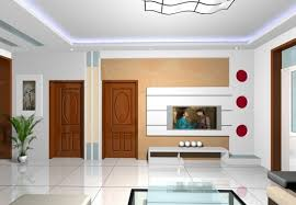 Living Room Interior Doors And TV Wall