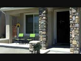 Columns On Front Porch by A2z Remodel Video Front Porch Stone Facade Murrieta Temecula Youtube
