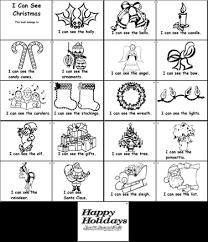 Kindergarten Predictable Text Christmas Vocabulary Enrichment Book