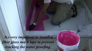 how to apply redgard waterproof in a shower floor youtube