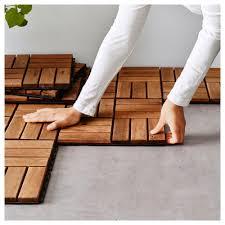 Kon Tiki Wood Deck Tiles by Runnen Floor Decking Outdoor Ikea