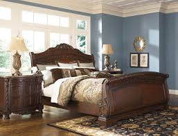 furniture sleigh bedroom furniture ashley north shore king bed
