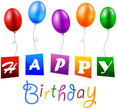 Birthday with Balloons PNG Clipart Image is available for free View full size