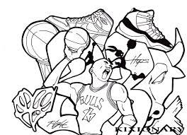 Coloring Pages Of Michael Jordan Shoes 4