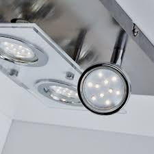deckenleuchte led spot decken strahler flur wohnzimmer schlafzimmer decken le 1 stück 4 strahler matt nickel 3 watt gu10 eckig