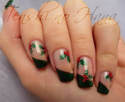 deco ongle de noel joyeux noël nature nails nail by tenshi no hana