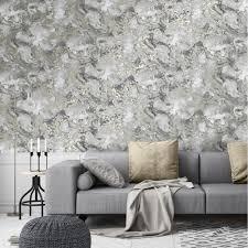 100 Marble Walls Liquid Wallpaper Grey Gold