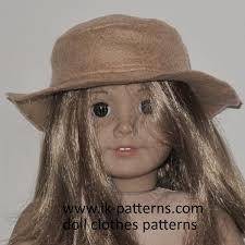 Easy Felt Hat Pattern For 18 Inch American Girl Doll 18 Inch Doll