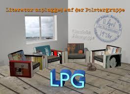 lpg wohnzimmerlesung mit der literarischen polstergruppe