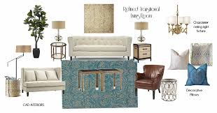 Transitional Living Room Leather Sofa by Cad Interiors Affordable Stylish Interiors