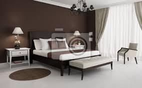 fototapete klassisch braun luxus schlafzimmer mit kronleuchter und sofa
