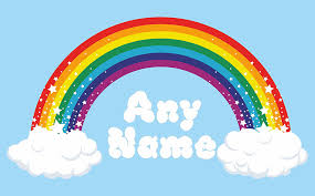 Wall Mural Decals Canada by Rainbow Wall Art Choose Any Name Vinyl Sticker 3 Sizes Full