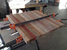 Make A Reclaimed Wood Desk by How To Make A Reclaimed Tongue U0026 Groove Table Top