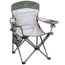 100 Oversized Padded Folding Chairs ALPHA CAMP Mesh Back Camping Chair Heavy Duty