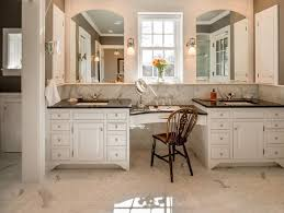 Bathroom Vanities With Matching Makeup Area by Toby Leary Fine Woodworking Spectacular Master Bathroom With