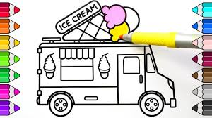 100 Truck Drawing Ice Cream And Coloring For Kids How To Draw Ice Cream