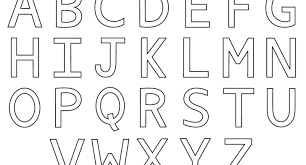 Printable Alphabet Letters To Color Page Archives
