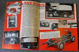 1940s MACK TRUCKS BROCHURE Truck RETAILER Business Card PROVIDENCE ...