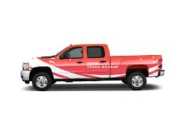 100 Free Truck Crew Mockup PSD