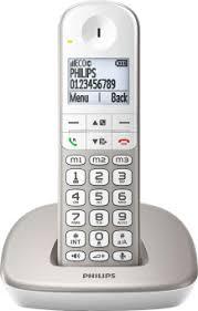 philips xl490 téléphone fixe sans fil écran 1 9 argent