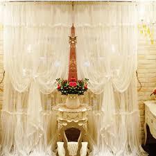 romantische spitze vorhang mittelmeer fenster screening wohnzimmer gardinen voile doppelschicht tüll cortina hochzeit dekoration