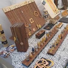 Beautiful Wood Jewelry Display At Renegade Craft Fair