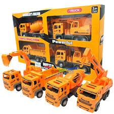 100 Toy Cement Truck 4 Deluxe Construction Vehicles Dump Excavator