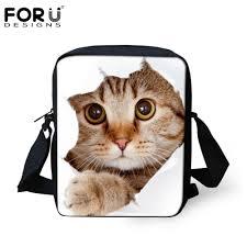 wholesale forudesigns women cross body bags cute 3d animal pet cat
