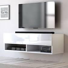 details zu tv lowboard board wand hängend hängeschrank board in weiß hochglanz 100 cm epsom