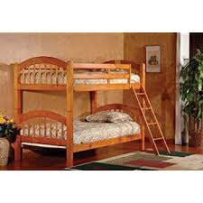 Trendwood Bunk Beds by Amazon Com We Furniture Solid Wood Twin Bunk Bed White Kitchen