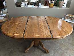 Solid Oak Dining Table Extendable Made In USA For Sale Gilbert AZ