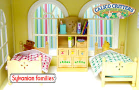 sylvanian families calico critters children s bedroom set unboxing