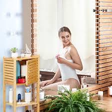 relaxdays 10028832 badezimmerablagen regale 1 stück