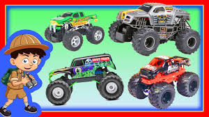 100 Monster Jam Trucks Toys Truck Toy Compilation At The Toy FREESTYLE Rally