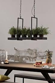 pfiffige led hängele tray in schwarz esszimmer