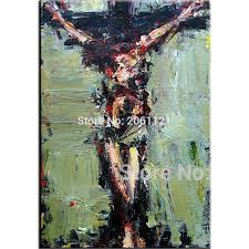Hand Painted Jesus Oil Painting Christ Good Friday Canvas Wall Art