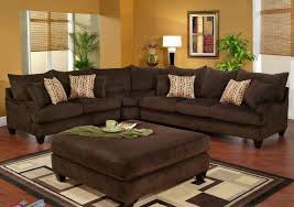 this is robert michael s long street sectional in a corduroy brown