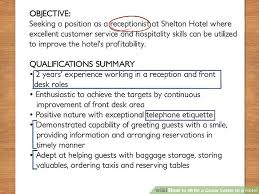how to write a cover letter to a hotel with pictures wikihow